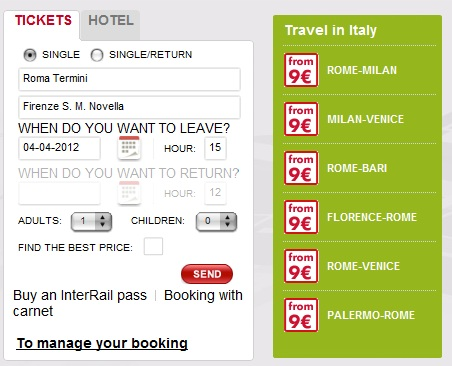 2012 03 26 Trenitalia Website Journey011 Trenitalia and Booking Online<br>Using the Trenitalia Website   Updated