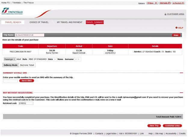 2012 03 26 Trenitalia Website Payment02 625x460 Trenitalia and Booking Online<br>Using the Trenitalia Website   Updated