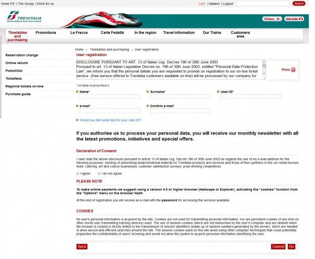 2012 03 26 Trenitalia Website Registration Page 01 625x514 Trenitalia and Booking Online<br>Using the Trenitalia Website   Updated