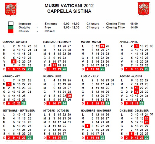 calendario2012 20 tips on Visiting the Vatican Museums