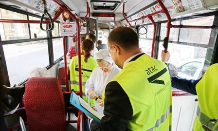 ATAC inspectors Tickets for the Bus, Metro, Trams, & Met.Ro Trains