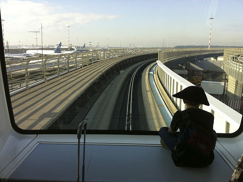 Airport Skytrain from G Where to Meet at FCO?