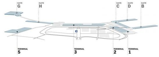 Map of FCO Airport ADR Site Arriving in Rome   Fiumicino (FCO)!