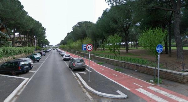 Marker 6 Aqueduct Park in Rome
