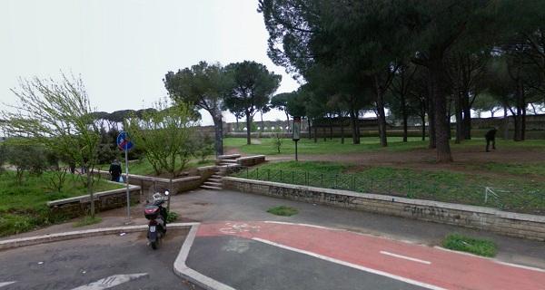 Marker 81 Aqueduct Park in Rome