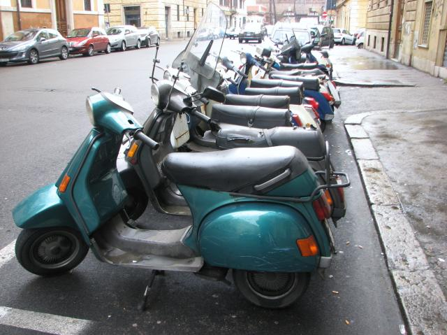 Riding a Scooter in Rome