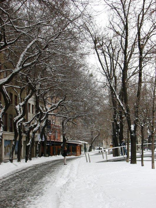 Bratislava in the snow