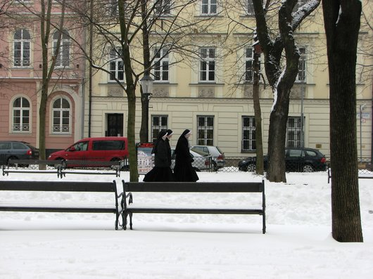 Bratislava Nuns in the snow