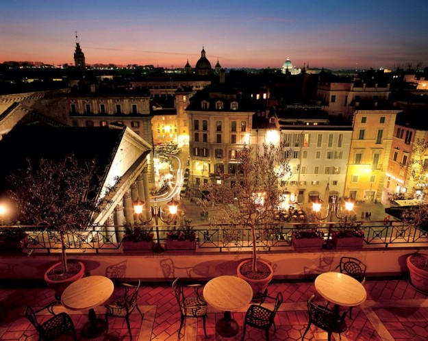 43 Albergo Senato01 625x498 Rooftop Bars and Restaurants in Rome