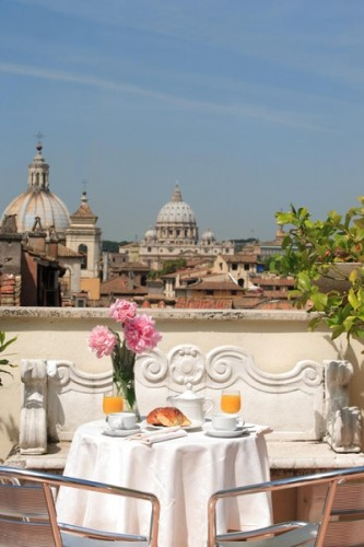 47 Hotel Genio01 333x500 Rooftop Bars and Restaurants in Rome