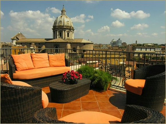 50 Hotel Campo De' Fiori01 Rooftop Bars and Restaurants in Rome
