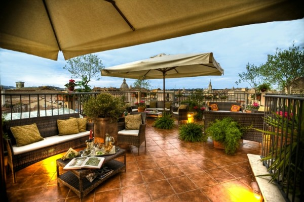 50 Hotel Campo De' Fiori04 600x400 Rooftop Bars and Restaurants in Rome