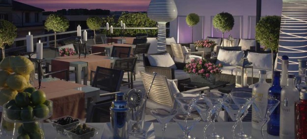 57 Roof Terrace at the Visconti Palace Hotel02 625x283 Rooftop Bars and Restaurants in Rome