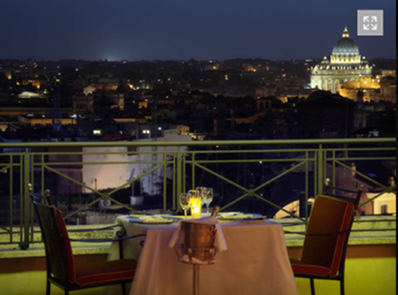 6 L'Olimpio Rooftop Restaurant01 Rooftop Bars and Restaurants in Rome