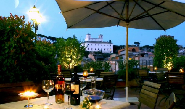 Hotel Mozart Rooftop Garden02 625x368 Rooftop Bars and Restaurants in Rome