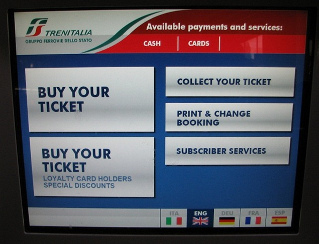 IMG 8707 thumb1  Booking on the Trenitalia Website