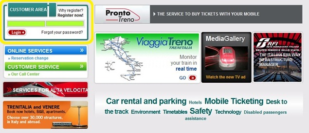 Trenitaliawebpage01aaabb thumb  Booking on the Trenitalia Website