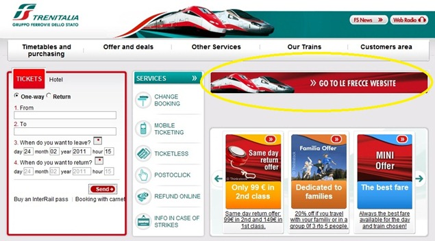 Trenitaliawebpage01f thumb Trenitalia and Booking Online<br>Using the Trenitalia Website   Updated