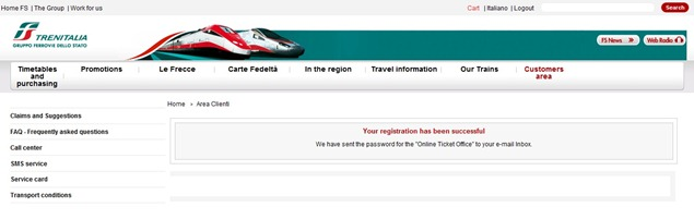 Trenitaliawebpage03a thumb Trenitalia and Booking Online<br>Using the Trenitalia Website   Updated
