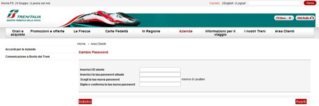 Trenitaliawebpage04a thumb  Booking on the Trenitalia Website