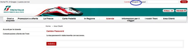 Trenitaliawebpage05b thumb  Booking on the Trenitalia Website