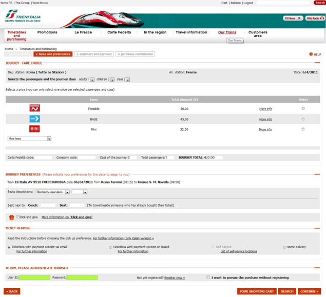 Trenitaliawebpage10 thumb  Booking on the Trenitalia Website
