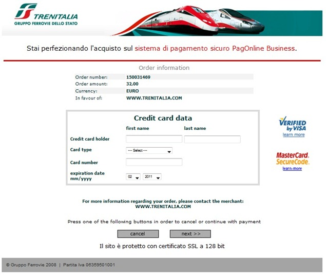 Trenitaliawebpage12 thumb  Booking on the Trenitalia Website