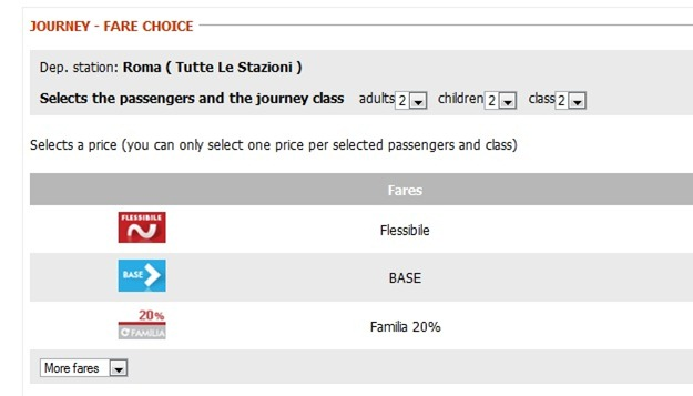 Trenitaliawebpage15 thumb  Booking on the Trenitalia Website