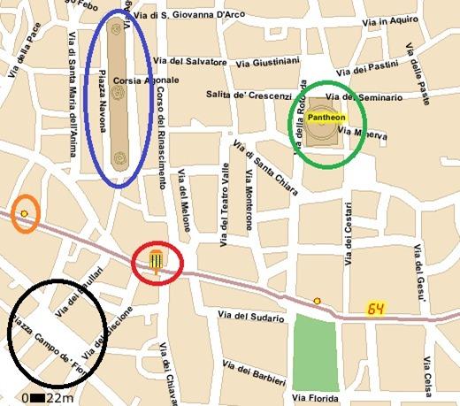 64 p.za stazione s. pietro (9) c.so vittorio emanuele-s. a. della valle Stop