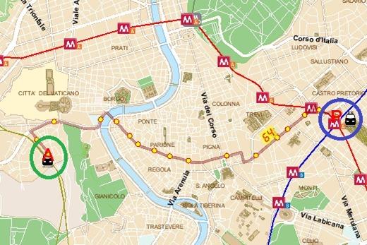 64p.zastaziones.pietroFULLROUTE Bus 64 to Piazza Stazione San Pietro