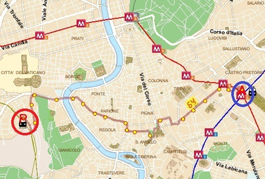 64terminiFULLROUTE Bus 64 to Roma Termini