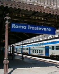 Roma Trastevere Station - train parked SMALL