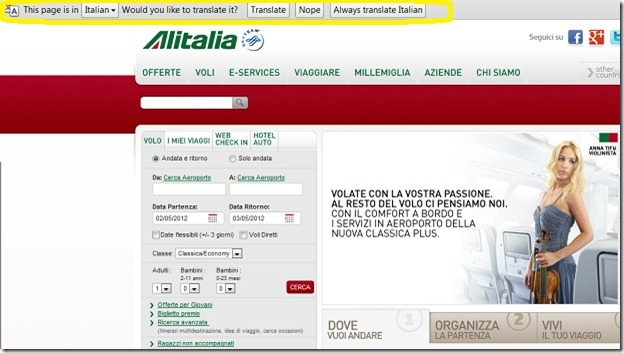 Alitalia - Italian  Site - pretranslated