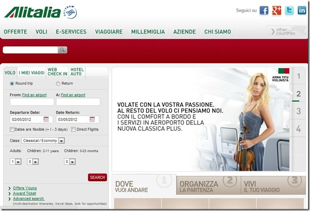 Alitalia - Italian  Site - translated