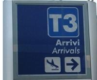 FCO T3 Signage Leonardo da Vinci Airport