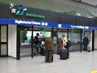 FCO Trenitalia counter Train Travel in Italy