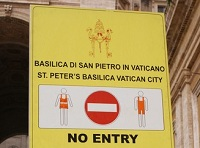 Signage dress code The Vatican